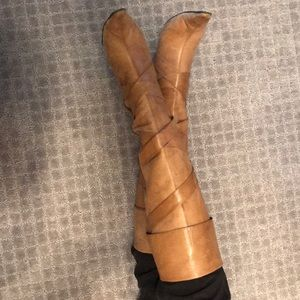 Tan Bakers Heeled Boots.